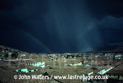 Storm coulds over Cuzco, Peru