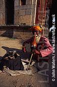 Snake charmer, Lodi Gardens, Delhi, India, Asia