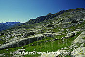 Glacier smoothed rocks, Swiss Alps, Ticino, Switzerland, Europe