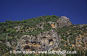 Rock tombs South-West Turkey Caunos near Dalyan, Turkey
