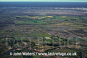 Aerial view: Farmland, Chubut valley, Patagonia, Argentina