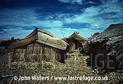 Floating reed village, Uru Indians, Lake Titicaca, Peru