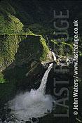 Agoyan falls, Rio Pastaza, Banos, Ecuador