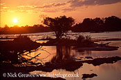 Zambezi sunset, upper river, Zambezi National Park, Zimbabwe