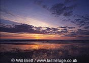 Sunset at Westward Ho! Beach looking west