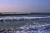 Clean winter surf at Westward Ho! Beach