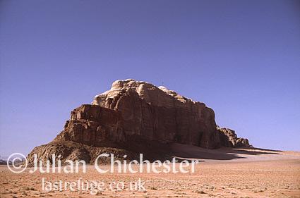 Jebel, in the desert near Wadi Rum, Jordan