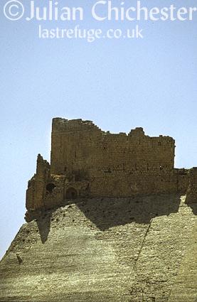 The Crusader castle of Crac des Moabites at Karak, Jordan. 12th Century