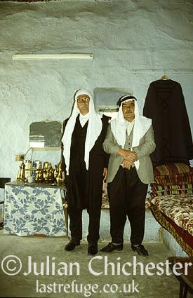 Druze men, at Shaba, Syria