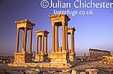 The Tetrapylon at Palmyra, Syria, at dawn. Roman, 3rd Century