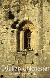 Window in the Crusader castle of Chastel Blanc, Safita, Syria. Built by Knights Templar Crusaders in 13th Century