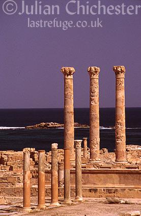 Temple of Liber Pater, Sabratha, Libya. Roman 1st - 2nd Century