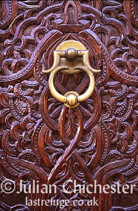 Door in the Madina (medieval walled town) in Tripoli, Libya