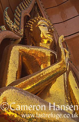 Golden Buddha, Wat Tham Suea, Kanchanaburi, Thailand