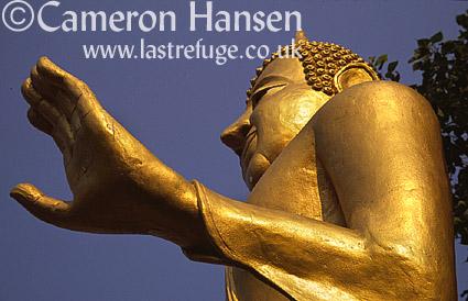 Golden Buddha, Sukhothai, Thailand