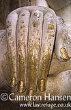 Buddha (close-up hand) at Wat Si Chum, Sukhothai Historical Park, Thailand