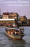 Ferry across Chao Phraya River, Bangkok, Thailand