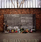Auschwitz Nazi Death Camp: The -Wall of Death- where prisoners from Block 11, and others, were brought to be shot.