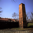 Auschwitz Nazi Death Camp: The Chimney of the Crematorium, next to the Gas Chamber.