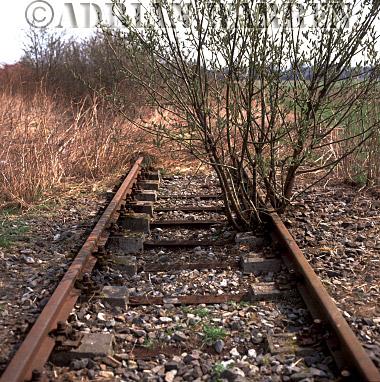 Auschwitz Nazi Death Camp: The railway line just outside Birkenau camp in 2002.