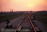 Auschwitz Nazi Death Camp: The railway sidings inside Birkenau where the selections of arriving prisoners took place. Some 75% were sent directly to the Gas Chambers for immediate execution.
