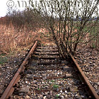 Auschwitz Nazi Death Camp: The railway line just outside Birkenau camp in 2002.