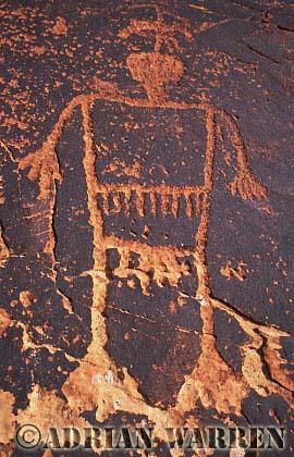 Human Figure ROCK ART - Petroglyph, Sand Island Recreation Area, San Juan River, Utah, USA