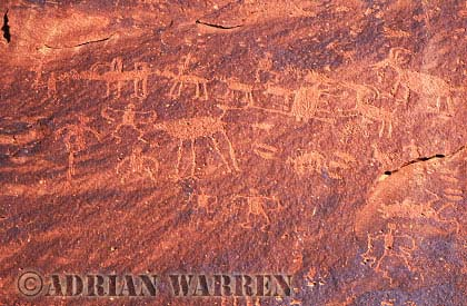 ROCK ART - Petroglyphs, Sand Island Recreation Area, San Juan River, Utah, USA