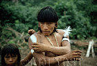 Waorani Indians: Harpy Eagle plumes adorn armbands, Gabado, 1974, Ecuador