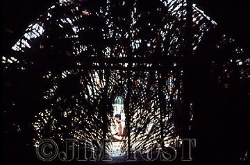 Waorani Indians: The longhouse interior, Gabado, 1973, Ecuador