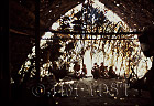 Waorani Indians: The longhouse interior, Gabado, 1973, Ecuador