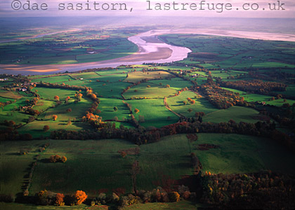 River Severn near Forest of Dean in Autumn, Gloucestershire, England
