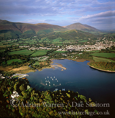 Keswick, Derwentwater, Lake District National Park, Cumbria, England