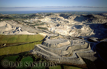 China Clay Quarries, St Austell, Cornwall, England