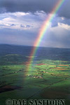 Rainbow over Somerset Levels, England
