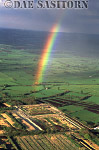 Rainbow over Peat Works, Somerset Levels, England
