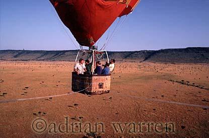 AERIALS: Sir David Attenborough in a hot-air balloon over the Masai Mara in Kenya for The Living Planet series