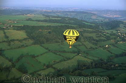AERIALS: Hot-Air Balloon, near Bath, England, UK