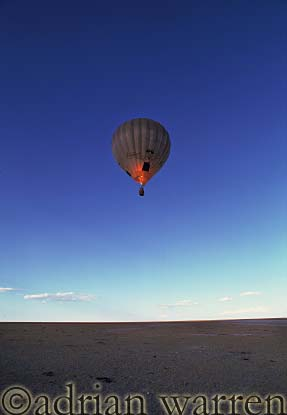 AERIALS: Hot-Air Balloon over Etosha National Park, Namibia, Africa