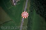 AERIALS: Hot-Air Balloon over Somerset, England, UK