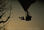 AERIALS: Adrian Warren filming from Hot-Air Balloon over Etosha National Park, Namibia, Africa