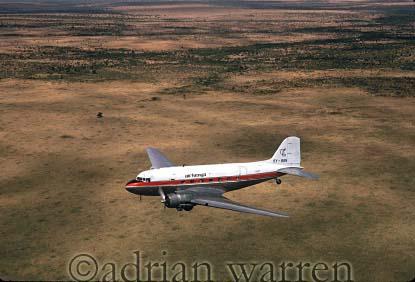 DC3 over Masai Mara, Kenya