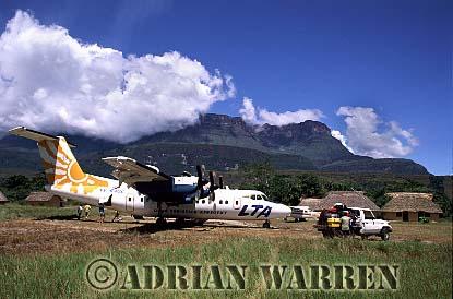 DASH 7, Uruyen, with Mount AUYANTEPUI in background, Venezuela, South America