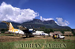 DASH 7, Uruyen, with Mount AUYANTEPUI in background, Venezuela, South America