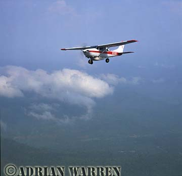 AERIALS: Cessna 206 over forest, Ecuador