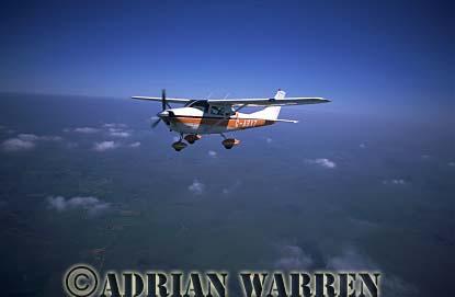 Cessna 182 : G-ASXZ, air to air over Cornwall, England, UK