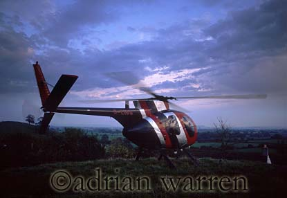Helicopter (Hughes 500), Somerset, England