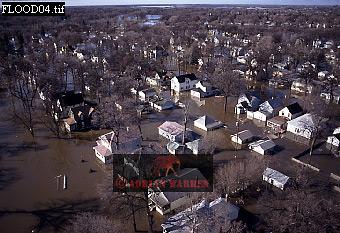 Aerials (aerial image) of North America: FLOODS at Grand Forks, North Dakota, USA