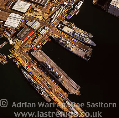 Portsmouth's Dock Yard and HM Naval Base, Portsmouth Harbour, Hampshire, England