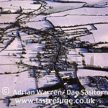 Wiltshire Landscape in snow, England